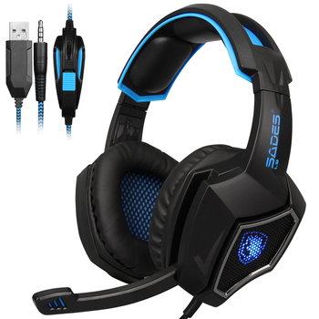 SADES L9 PS4 Gaming Headphone over-ear Stereo Sound Headphone with Mic for PClaptopMac magnetic attraction bluetooth earphone headset waterproof sports 4.2