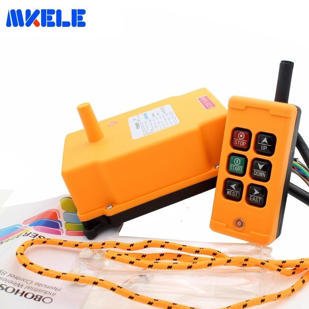 Livraison gratuite MKHS-6 PA66 422.4-438 MHz sans fil transmetteur bouton poussoir interrupteur grue industrielle télécommande de Makerele