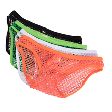 DODOING Hot Sale Large Mesh Sexy Transparent Mens Briefs Breathable Fishnet Men Underwear Gay Slip Hollow Out Briefs