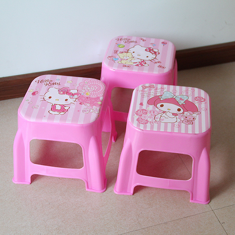 Image 2 - Plastic Small Stool Kindergarten Cartoon The Bench Household Adult Originality Living Room Shoes Kids Chair Furniture Dinette-in Children Chairs from Furniture