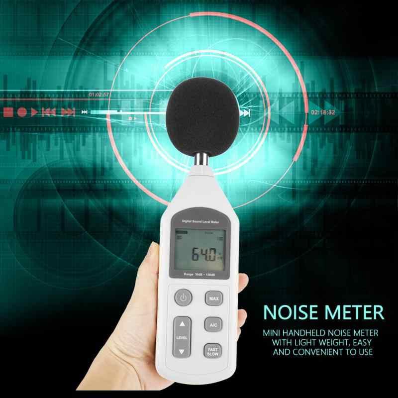 Handy Mini Digital Medidor de Ruído Medidor de Nível de Som Faixa De Medição Instrumento De Medição De Ruído GM1357 30-130dB 35-130dBC New Hot