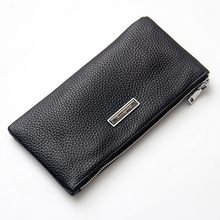 Men Wallet Genuine Leather Coin Purse Men Long Wallet Thin Litchi Grain Pattern Female Phone Bag Card Holder Cell Phone Pocket(China)
