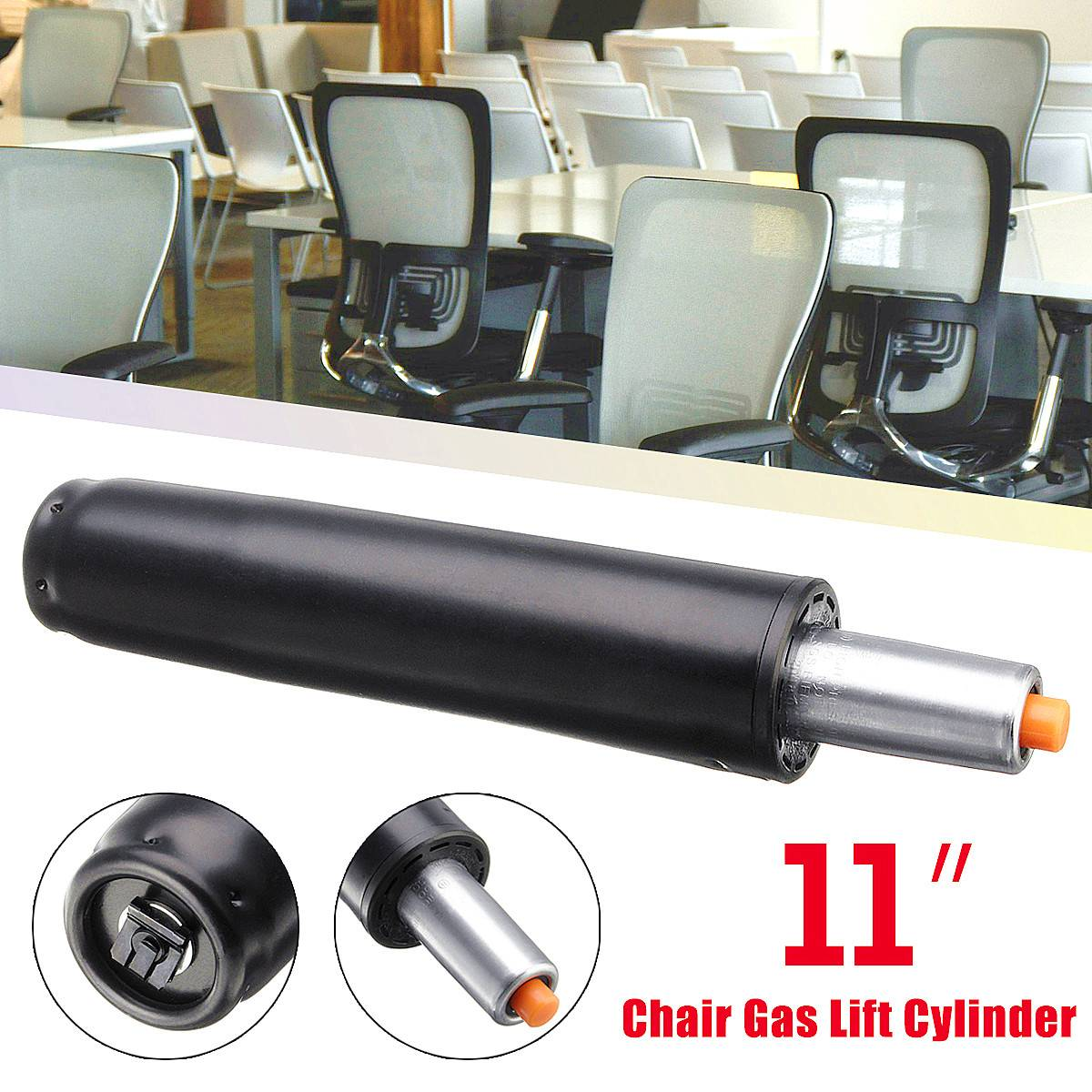 Heavy   11'' Pneumatic Rod Gas Lift Cylinder Chair Replacement Accessories Pneumatic Parts