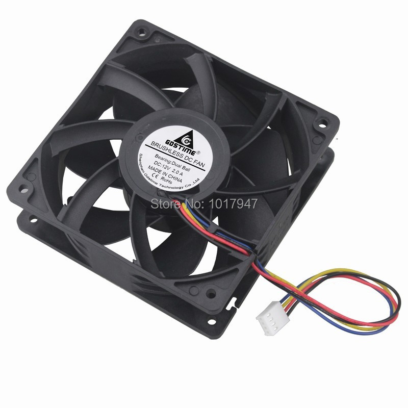 1 Pieces DC 12V 4Pin Ball Motor CPU 12cm <font><b>120mm</b></font> x 38mm 12038 FG <font><b>PWM</b></font> Exhaust Cooling <font><b>Fan</b></font> image