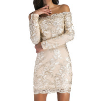 Amazon Best Sellers Sexy Wrap Chest Long Sleeve Mini Embroidery Short Dress 2018 New Pattern