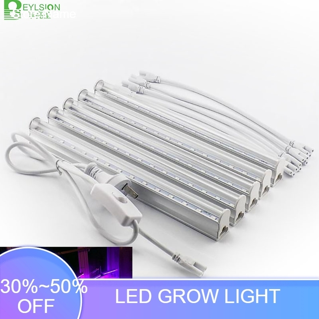 Us 9 31 56 Off Beylsion Led Grow Light 85 265v T5 Integrated Tube 30leds Phyto Lamps Full Spectrum Led Grow Light Hydroponic Plant In Led Grow