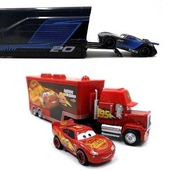 Disney Pixar Cars 2 3 juguete Rayo Mcqueen Jackson tormenta Mack Uncletruck rey 1:55 Diecast Metal de juguete niños regalo de cumpleaños