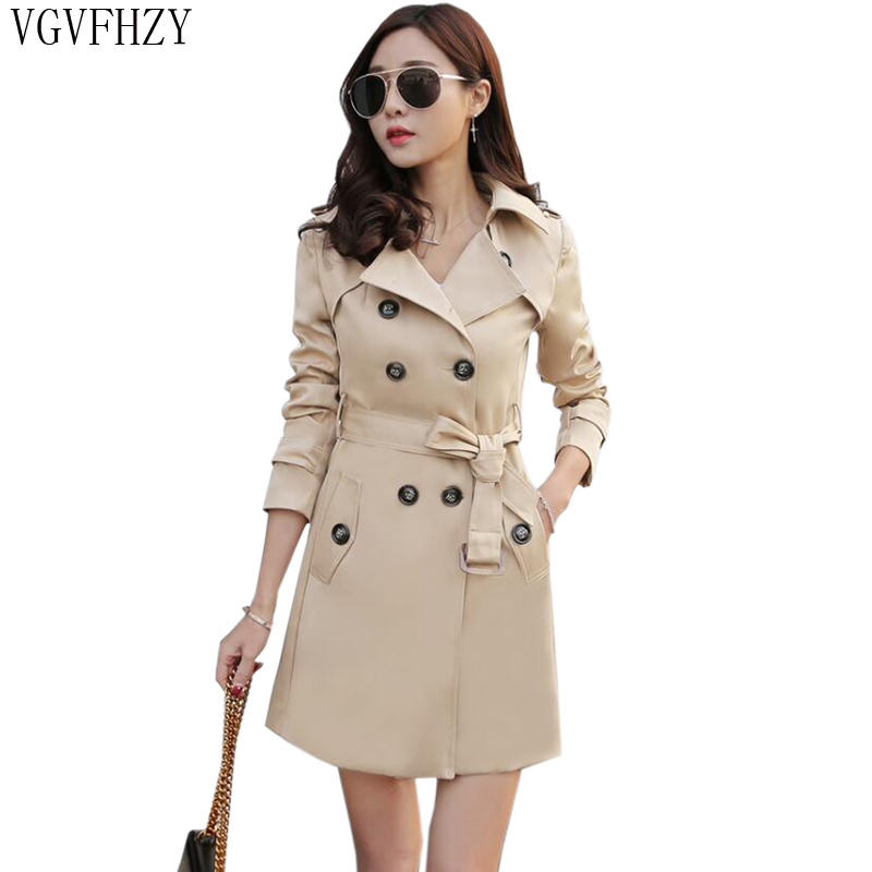 Women's 2018 Autumn Coats Fashion Plus Size 5XL Female   Trench   Coat Ladies Double Breasted long Outwear Clothing Windbreaker