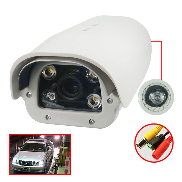 CWH CVBS AHD LPR Camera 2MP 1080P BNC ANPR License Plate Recording Camera with 2.8-12mm Lens Max 50KM/H for Entrance Exit CA1DL2