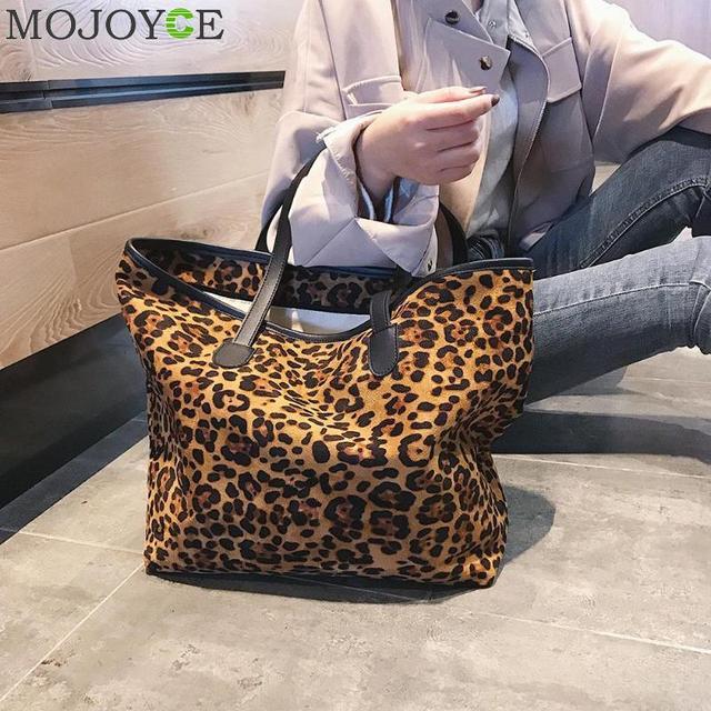 ac61e253a71f Fashion Leopard Casual Tote Bag for Women New Casual Shopping Bag Female  Shoulder Bags Large Capacity Handbag Bolsa Feminina