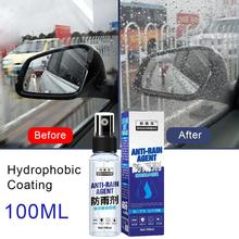 100ml Auto Anti Pioggia Nebbia Agente di Rivestimento di Vetro Nano Idrofobo Parabrezza Antipioggia Agente Auto Spruzzo Liquido Coat Ceramica
