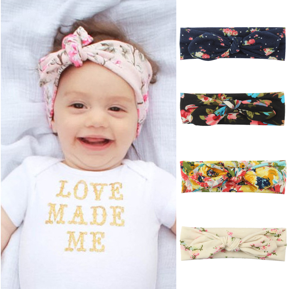 Hair Accessories Muqgew 2019 Hot Sale Baby Cute Rabbit Ears Elastic Flowers Bowknot Headband Girls' Baby Clothing