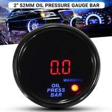 2 дюйма 52 мм 0-10 бар масла Давление датчика цифровой светодиодный Дисплей черный уход за кожей лица автомобиля метр с Сенсор