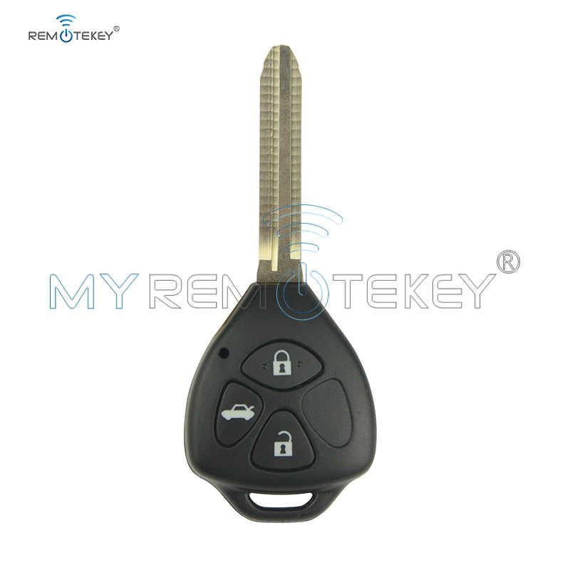 Remtekey Денсо Запальные свечи HYQ12BBY дистанционный ключ для автомобиля с лезвие toy43 3 кнопки 434 МГц без чипа для пластиковая пилочка для ногтей 2006 2007 2008 2009 2010