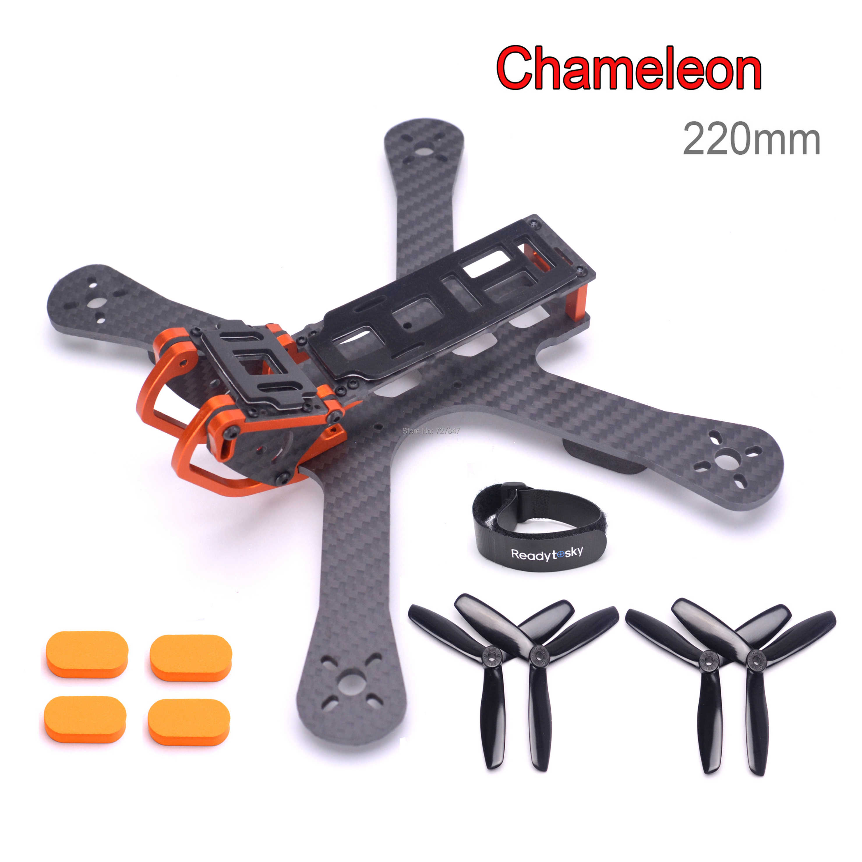 "NEW Chameleon FPV Frame 220 220mm 5"" FPV Quadcopter Frame FPV Racing Drone Freestyle"