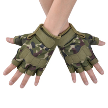 Army Paintball Airsoft Shooting Outdoor Knuckle Half Finger Motorcycle Cycling Gloves Tactical Fingerless Military P30
