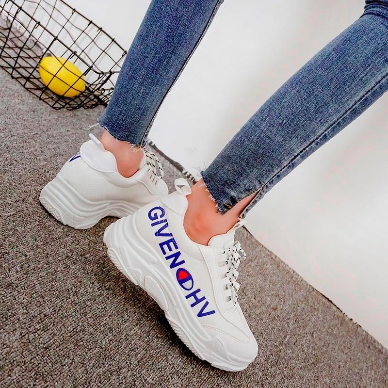 Baskets Fond Chaussures Formateurs Chaussure jaune Occasionnels Femmes Épais Femme Plate forme Dames Confortable Printemps Bleu 8F0xnwq