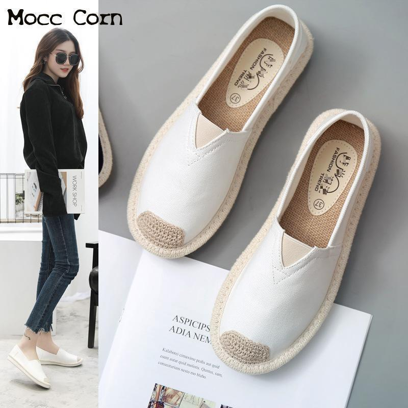 Women 2018 Summer Lightweight Breathable Flat Shoes Ladies White Fisherman Leisure Soft Comfortable Espadrilles Lazy Loafers New