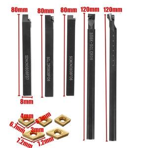Image 4 - 5pcs 8mm 샹크 인덱서 블 선반 터닝 공구 홀더 CCMT060204 DCMT070204 CNC 기계에 대 한 카바 이드 삽입 새로운 도착