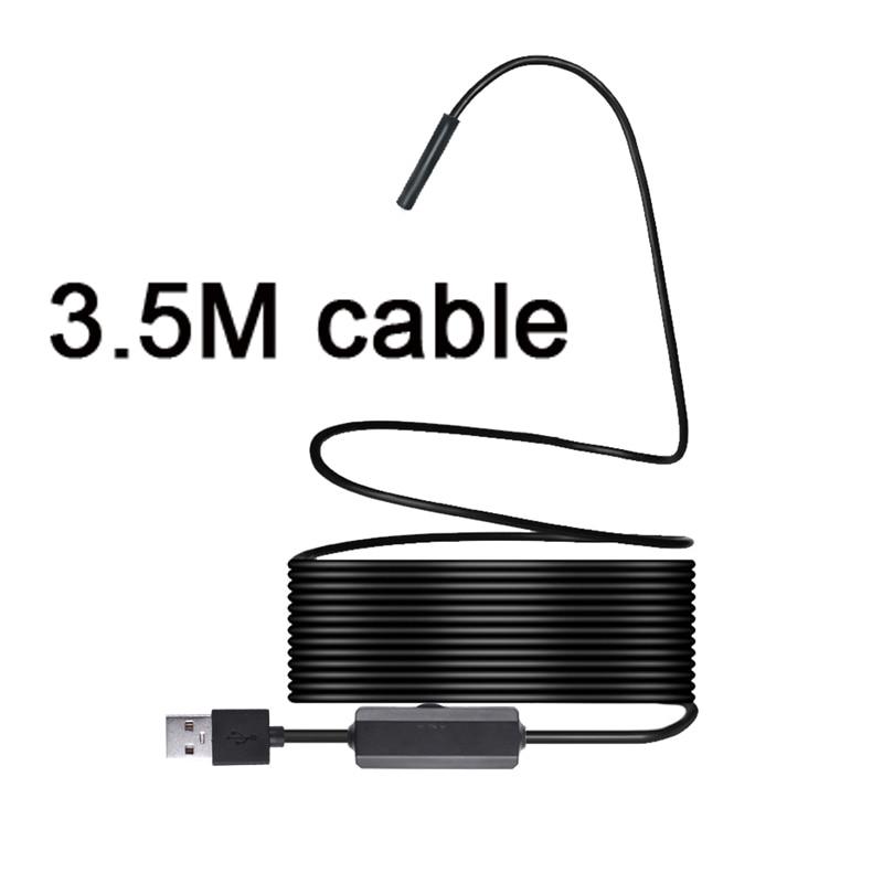 3.5M 1200P Semi rigid Wireless Endoscope WiFi Borescope