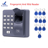 Fingerprint Recognition Password Key Lock Access Control Machine Biometric Electronic Door Lock RFID Reader Scanner System