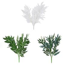 Artificial Willow Fake Bouquet Leaves For Home Christmas Wedding Decoration Party Vine Foliage Plants Crown 2019 New
