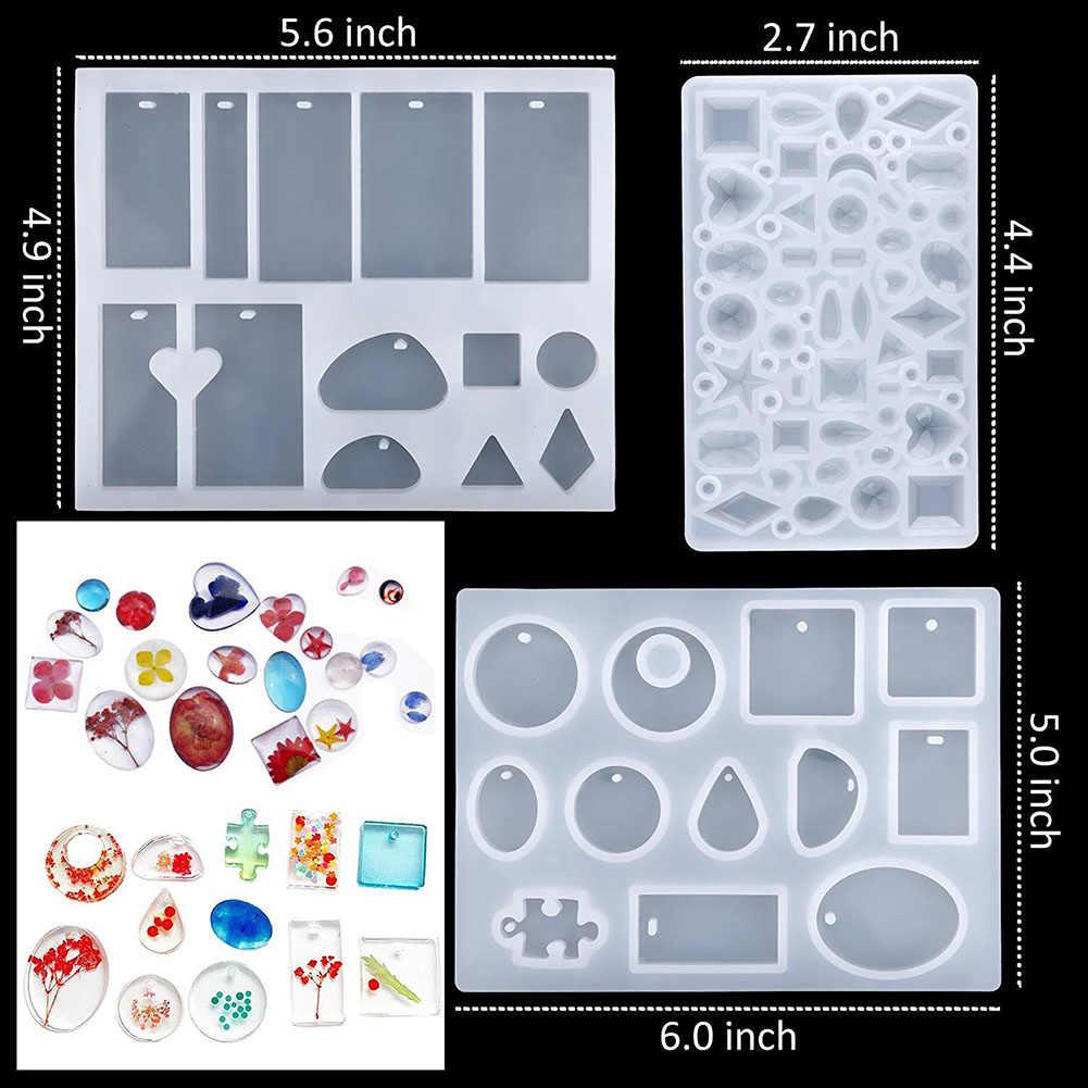 83 pçs/set DIY Kit Molde De Fundição De Resina Pingente de Silicone Fabricação de Moldes moldes de resina epóxi para a Jóia Pulseira