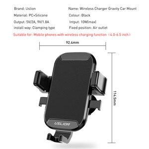 Image 3 - Support de voiture USLION Qi chargeur sans fil pour iPhone XS Max X XR 8 support de téléphone de voiture de charge sans fil rapide pour Samsung Note 9 S9 S8