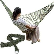 Одноместный нейлоновый гамак с сеткой, портативный для кемпинга, пляжа, отдыха на открытом воздухе, подвесная кровать, качели, мебель для взрослых, Ulatralight