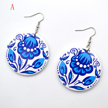 YULUCH 2018 New custom handmade fashion hot round wood color flower personality woman jewelry earrings gift(China)