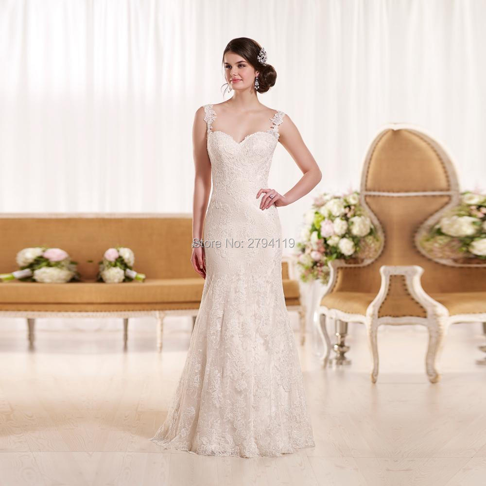 A-line wedding dress Sleeveless Sweetheart vestidos de noiva Custom made plus size wedding Grown floor lenght wedding Grown2019