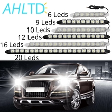 цена на Auto Led  Flexible Silicone Car Led Daytime Running Light 6LED DRL with Lens DC 12V White Head Lamp Headlight Parking Fog Lights