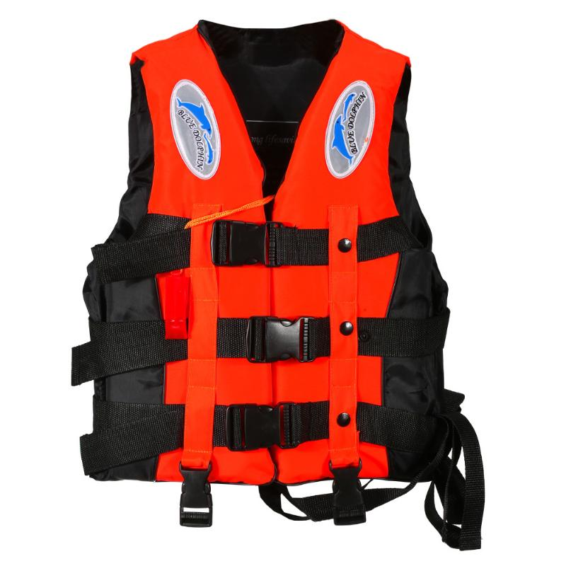 Poliéster vida adulta chaleco chaqueta de natación de navegación de surf de supervivencia a la deriva, chaleco con silbato agua deportes Chaqueta Hombre