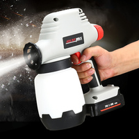 Joustmax JST81015 24V Lithium Ion Battery Hand Held Electric Paint Spray Gun Adjustable Paint Sprayer Paint Air Compressor1000lm