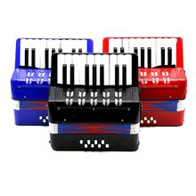 17 Key 8 Bass Accordion Instrument Small Accordion Educational Musical Instruments for Children Kids Gift Blue/Black/Red