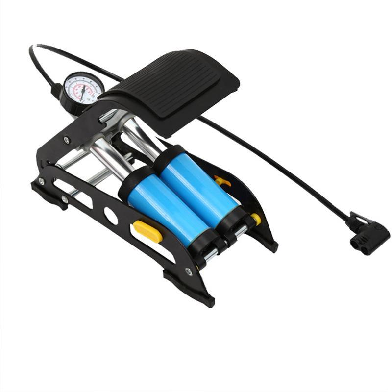 Alliage d'aluminium vélo pompe à Air vtt moto voiture basket-ball vélo pied pompe à Air haute pression en acier vélo gonflable