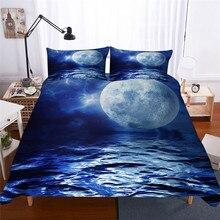 Bộ đồ giường Đặt 3D In Duvet Cover Bed Thiết Sóng Biển Trang Chủ Dệt May cho Người Lớn Sống Động Như Thật Chăn Mền với Gối # HL07
