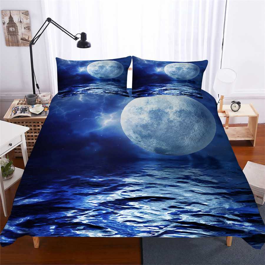 Bedding Set 3D Printed Duvet Cover Bed Set Sea Wave Home Textiles for Adults Lifelike Bedclothes with Pillowcase #HL07-in Bedding Sets from Home & Garden