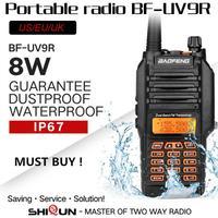 "uv9r מכשיר 100% מקורי Baofeng UV9R IP67 8W ארוך טווח מכשיר הקשר 10 ק""מ חובב רדיו Dual Band UV9R Portable CB רדיו Communicator (2)"