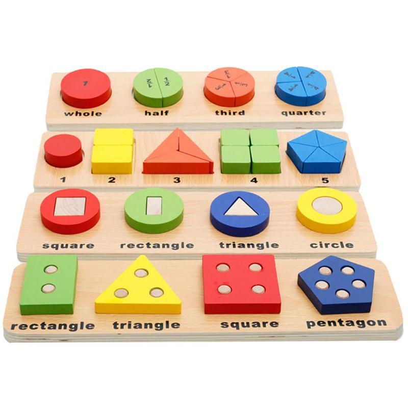 Kids Math Montessori Puzzle toy Building Set Wooden ...