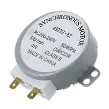 AC 220-240V 50/60Hz 5/6RPM 4W Turntable Synchronous Motor for miniwave Oven