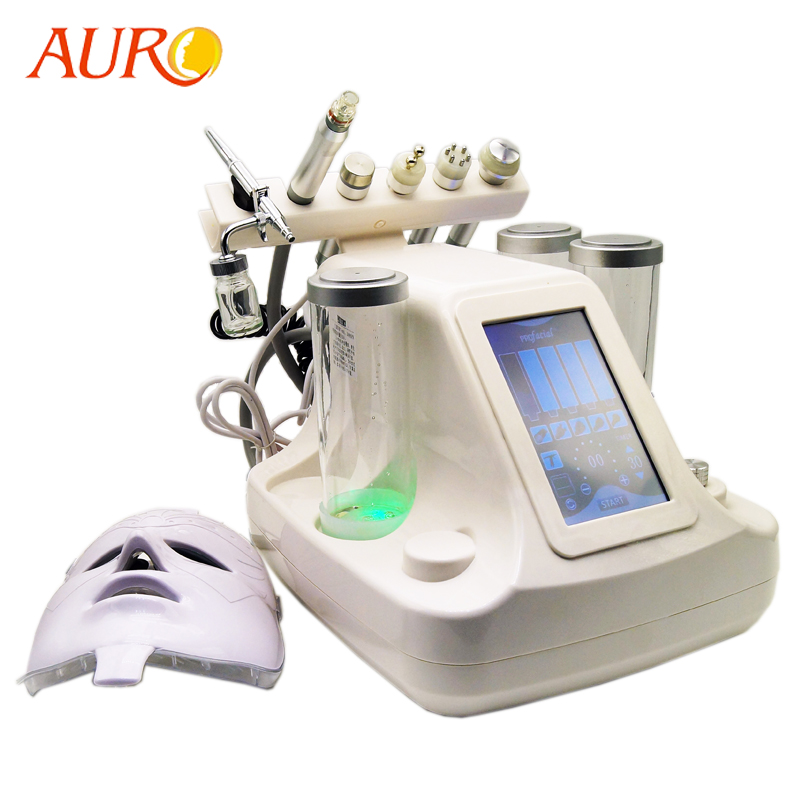 Free Shipping AURO 2019 7 in 1 Multifunctional Bubble Oxygen Machine Water Microdermabrasion Equipment Facial Spa