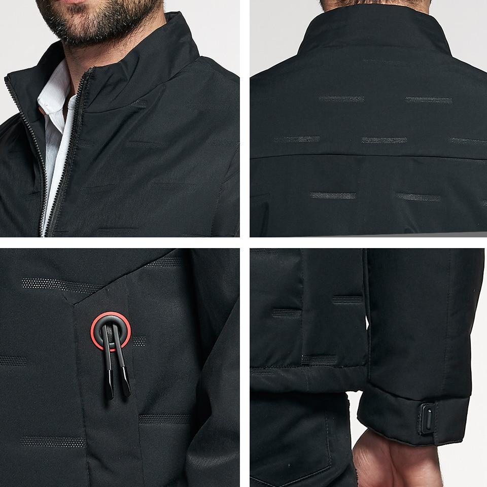 Lzmza 2018 Autumn Men Jackets And Coats Jaqueta Masculina Male Jacket Fashion Stand Collar Smart Causal Zipper Jackets Hombre Men's Clothing