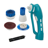 Cordless Electrical Washing Cleaner Brush Scrubber Kitchen Bathroom Handheld Stain Clean Tools 6 in 1 Cleaning Kit