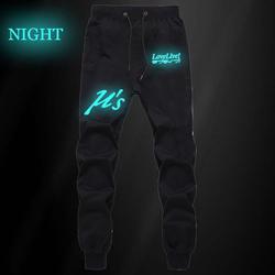 Аниме Лав Лив u's световой Штаны осень-зима Для мужчин штаны для бега фитнес повседневные длинные брюки впитывает пот и Штаны штаны для