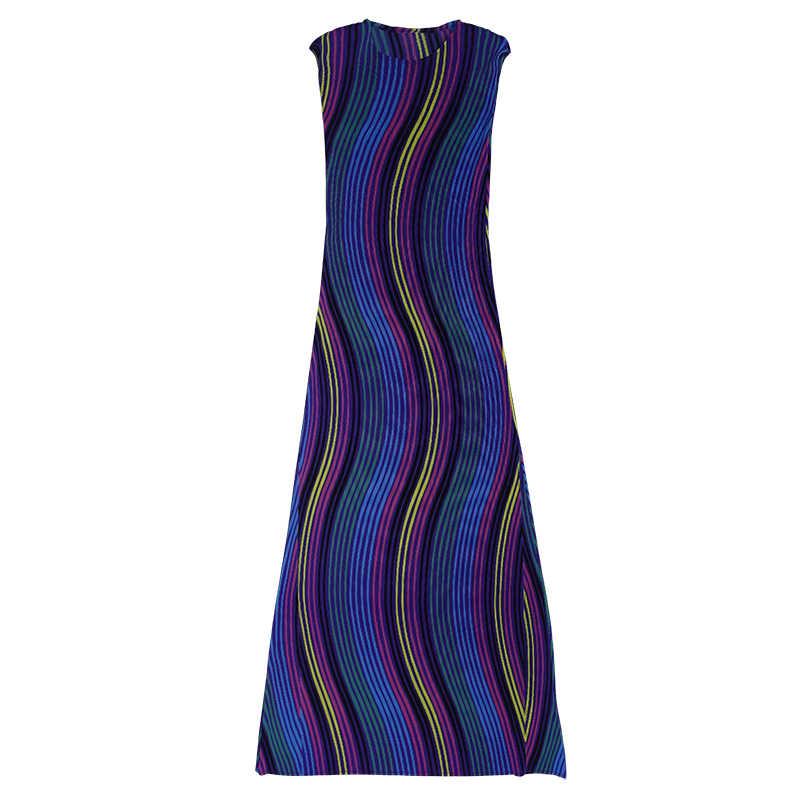 LANMREM высокое качество 2019 летняя модная новая одежда в клетку для женщин цветные полосатые свободные платья с коротким рукавом женские YH37205