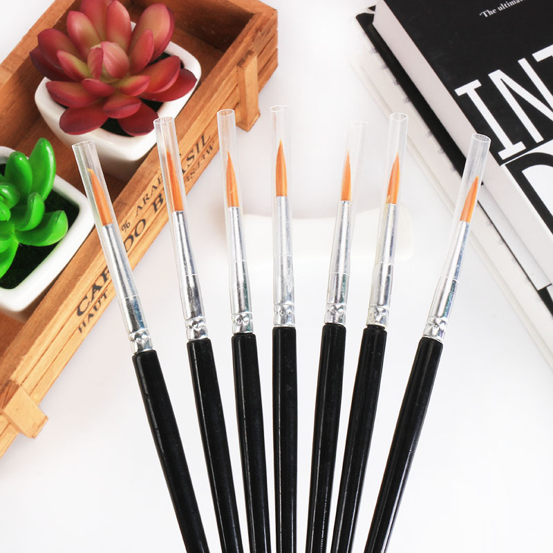 5pcs/set High Quality Long Tail Horsehair Watercolor Hook Line Oil Painting  Paint Brush Art Stationery
