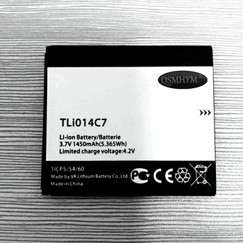 QSMHYM Brand New TLi014C7 1450mAh 3.7V Battery For Alcatel Onetouch Pixi first 4024D 4024XWith Tracking Number image