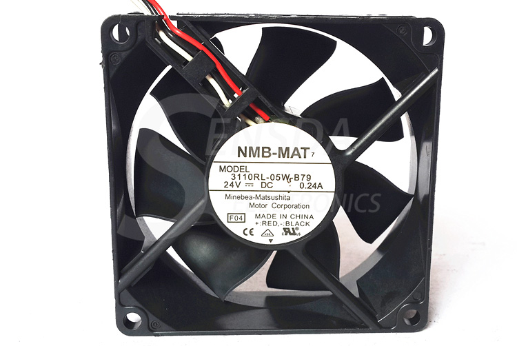 Original NMB 3110RL-05W-B79 24V 0.24A 3-wire cpu cooler heatsink axial Cooling Fans 8cm 8025 80x80x25mm 8cm