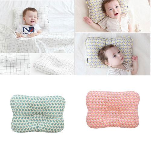 Baby Newborn Infant Pillow Soft Cute Positioner Prevent Flat Head Anti Roll US